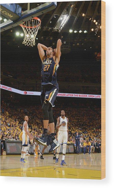 Playoffs Wood Print featuring the photograph Rudy Gobert by Noah Graham