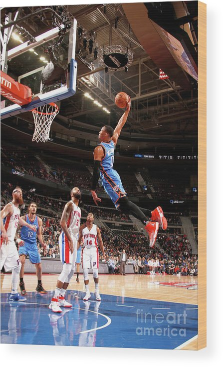 Nba Pro Basketball Wood Print featuring the photograph Russell Westbrook by Brian Sevald