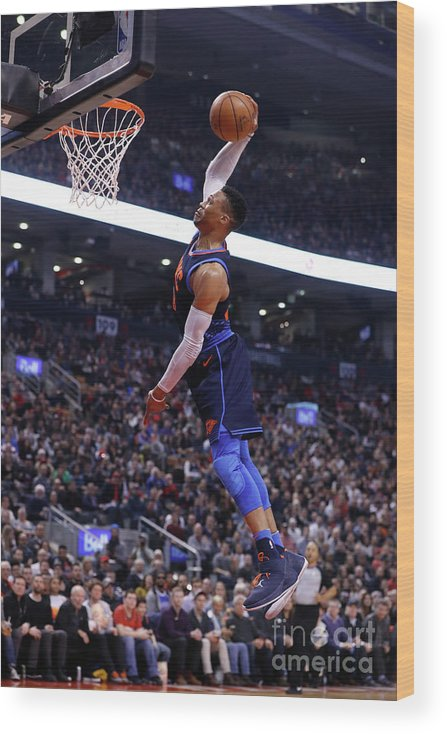 Nba Pro Basketball Wood Print featuring the photograph Russell Westbrook by Mark Blinch