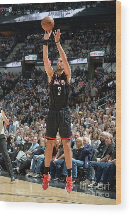Nba Pro Basketball Wood Print featuring the photograph Ryan Anderson by Mark Sobhani