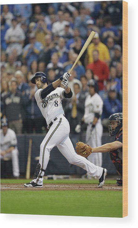 Home Base Wood Print featuring the photograph Ryan Braun by Mike Mcginnis