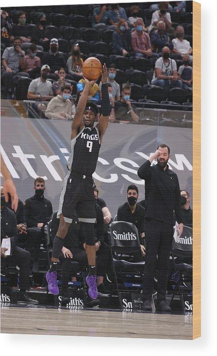 Nba Pro Basketball Wood Print featuring the photograph Sacramento Kings v Utah Jazz by Melissa Majchrzak