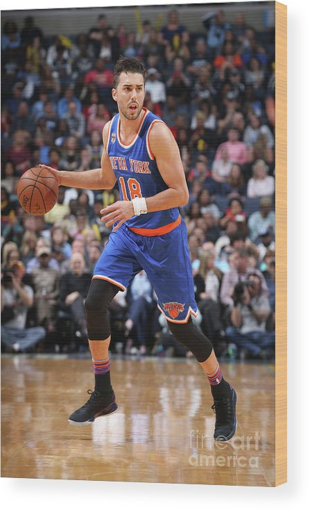 Nba Pro Basketball Wood Print featuring the photograph Sasha Vujacic by Joe Murphy
