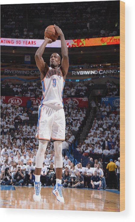 Playoffs Wood Print featuring the photograph Serge Ibaka by Andrew D. Bernstein