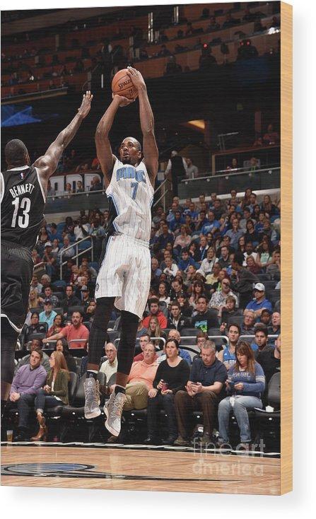 Nba Pro Basketball Wood Print featuring the photograph Serge Ibaka by Gary Bassing