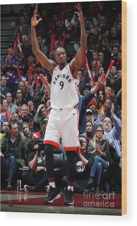 Nba Pro Basketball Wood Print featuring the photograph Serge Ibaka by Mark Blinch
