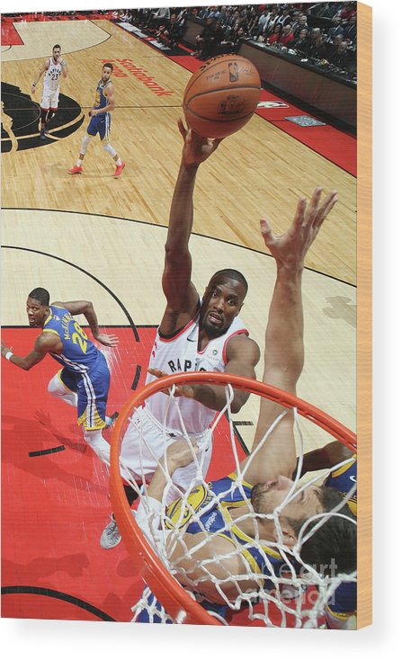 Playoffs Wood Print featuring the photograph Serge Ibaka by Nathaniel S. Butler