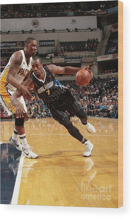 Nba Pro Basketball Wood Print featuring the photograph Serge Ibaka by Ron Hoskins