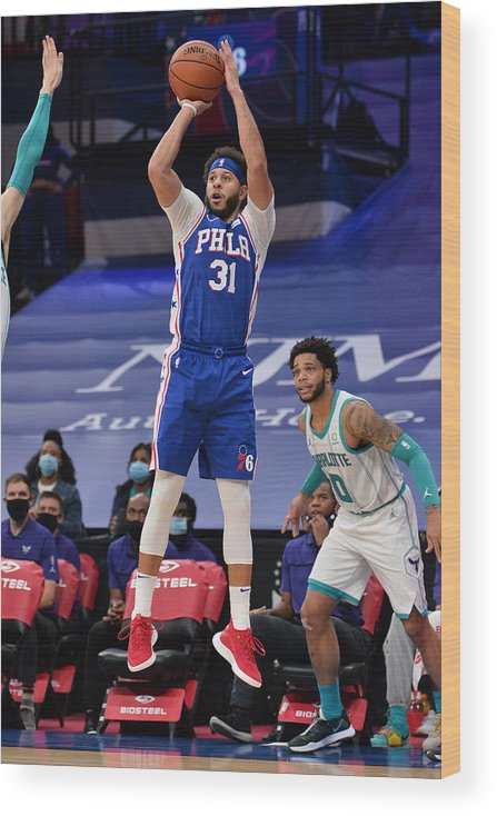 Nba Pro Basketball Wood Print featuring the photograph Seth Curry by David Dow