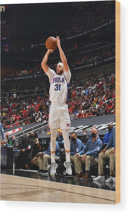 Atlanta Wood Print featuring the photograph Seth Curry by Jesse D. Garrabrant