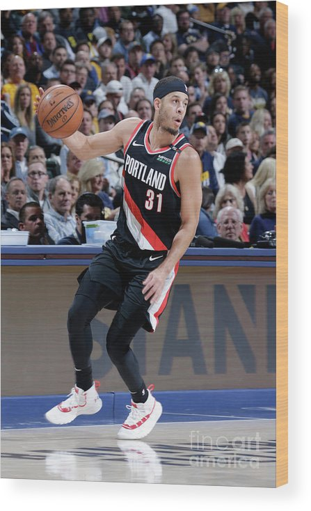 Nba Pro Basketball Wood Print featuring the photograph Seth Curry by Ron Hoskins