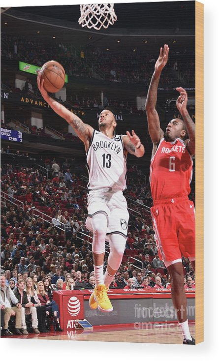 Nba Pro Basketball Wood Print featuring the photograph Shabazz Napier by Bill Baptist