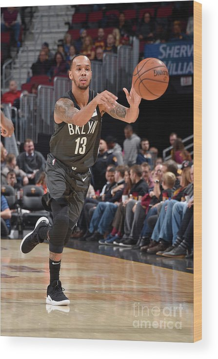 Nba Pro Basketball Wood Print featuring the photograph Shabazz Napier by David Liam Kyle