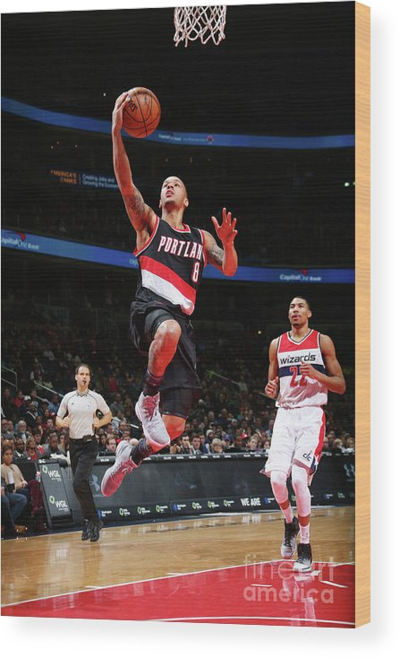 Nba Pro Basketball Wood Print featuring the photograph Shabazz Napier by Ned Dishman