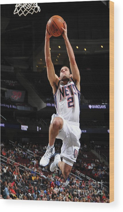 Nba Pro Basketball Wood Print featuring the photograph Shawne Williams, Jordan Farmar, and Darren Collison by Jesse D. Garrabrant