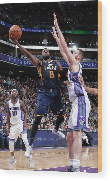 Nba Pro Basketball Wood Print featuring the photograph Shelvin Mack by Rocky Widner