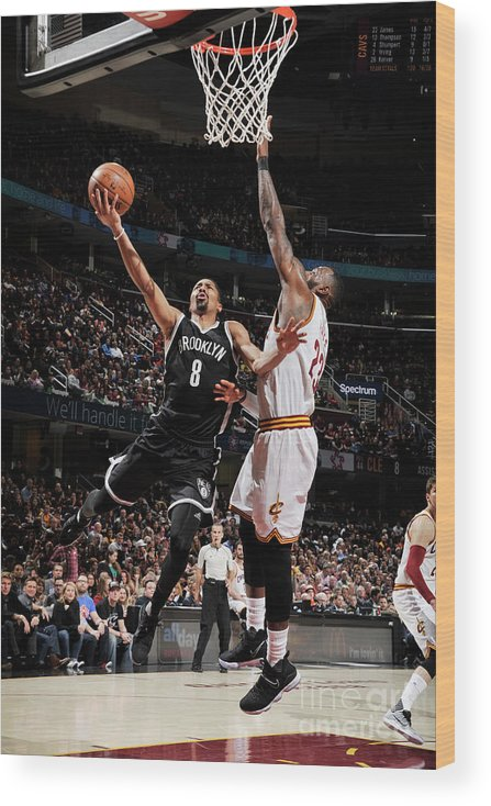 Nba Pro Basketball Wood Print featuring the photograph Spencer Dinwiddie by David Liam Kyle
