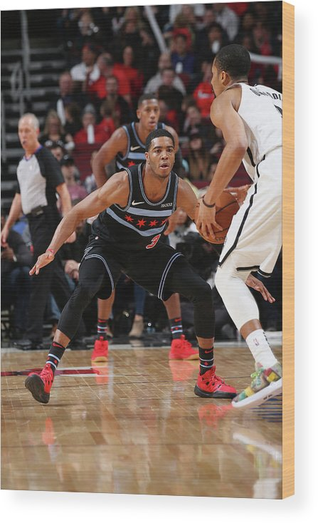 Nba Pro Basketball Wood Print featuring the photograph Spencer Dinwiddie by Gary Dineen