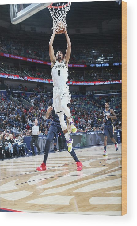 Smoothie King Center Wood Print featuring the photograph Spencer Dinwiddie by Layne Murdoch