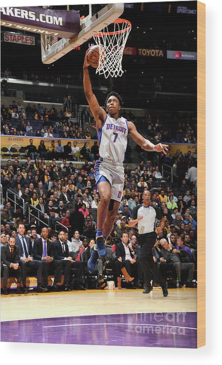 Nba Pro Basketball Wood Print featuring the photograph Stanley Johnson by Andrew D. Bernstein