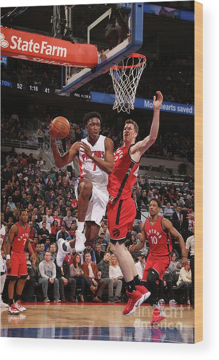 Nba Pro Basketball Wood Print featuring the photograph Stanley Johnson by Brian Sevald