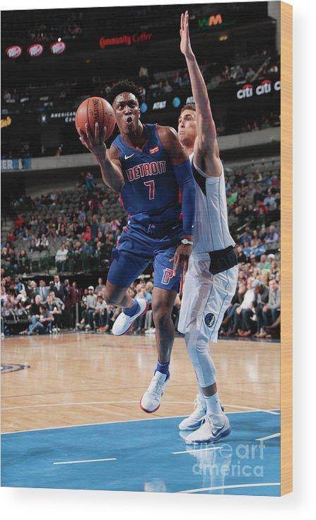 Nba Pro Basketball Wood Print featuring the photograph Stanley Johnson by Glenn James