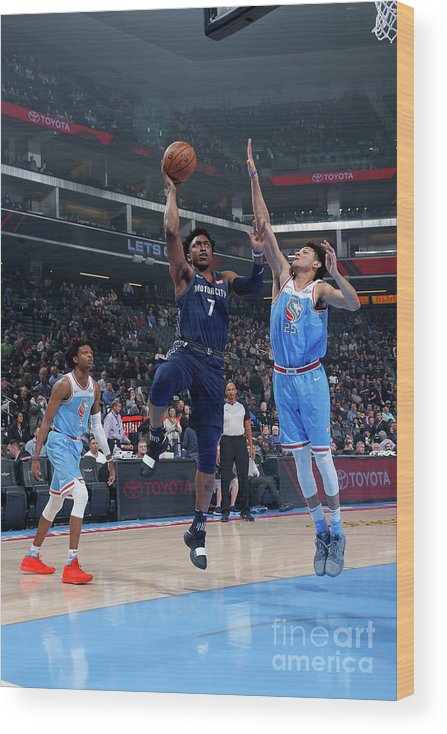 Nba Pro Basketball Wood Print featuring the photograph Stanley Johnson by Rocky Widner