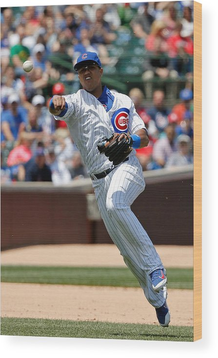 People Wood Print featuring the photograph Starlin Castro by Jon Durr