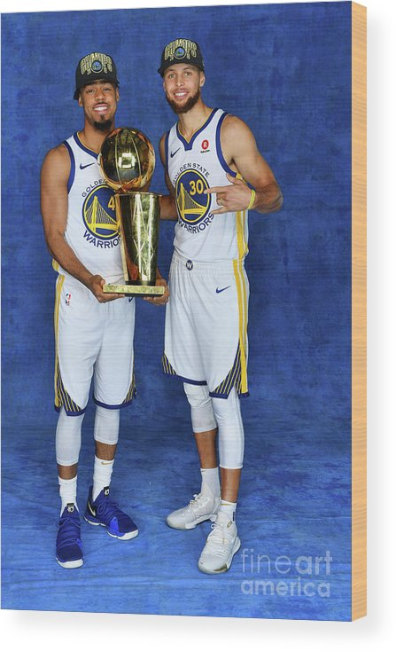 Playoffs Wood Print featuring the photograph Stephen Curry and Quinn Cook by Jesse D. Garrabrant