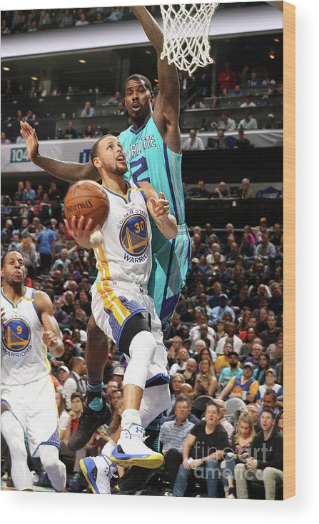 Nba Pro Basketball Wood Print featuring the photograph Stephen Curry by Brock Williams-smith