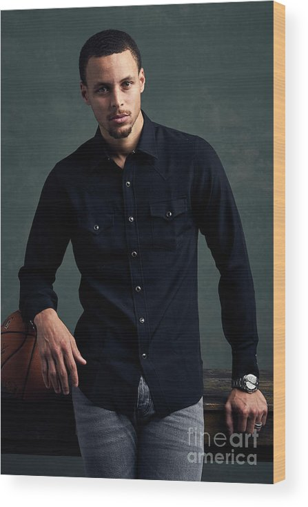 Event Wood Print featuring the photograph Stephen Curry by Jennifer Pottheiser