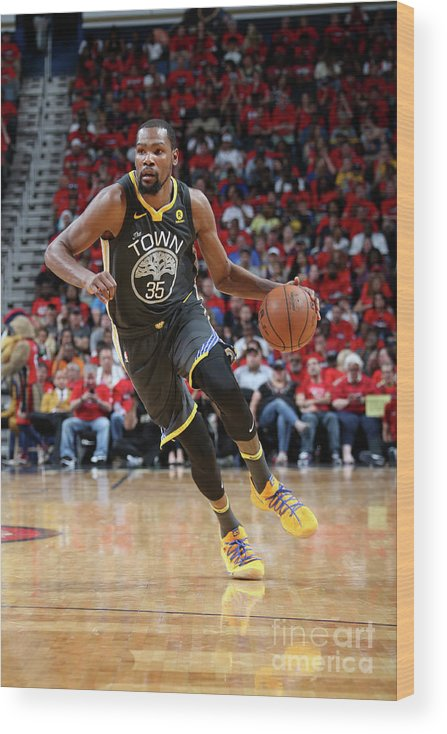 Smoothie King Center Wood Print featuring the photograph Stephen Curry by Layne Murdoch