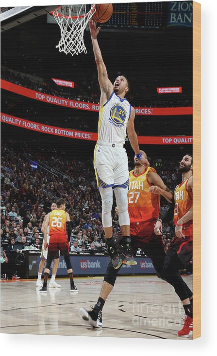 Nba Pro Basketball Wood Print featuring the photograph Stephen Curry by Melissa Majchrzak