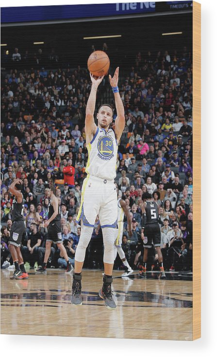 Nba Pro Basketball Wood Print featuring the photograph Stephen Curry by Rocky Widner