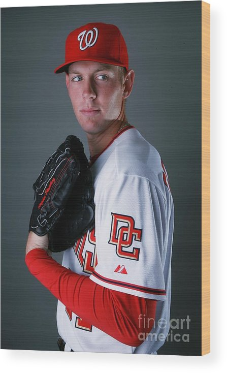 Media Day Wood Print featuring the photograph Stephen Strasburg by Doug Benc