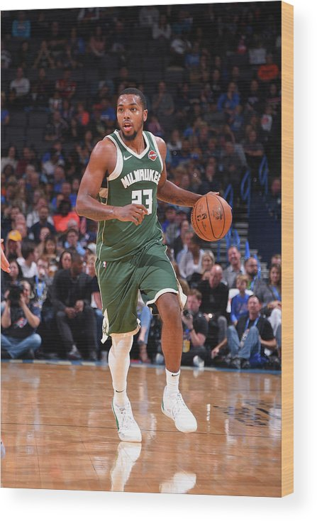 Nba Pro Basketball Wood Print featuring the photograph Sterling Brown by Bill Baptist