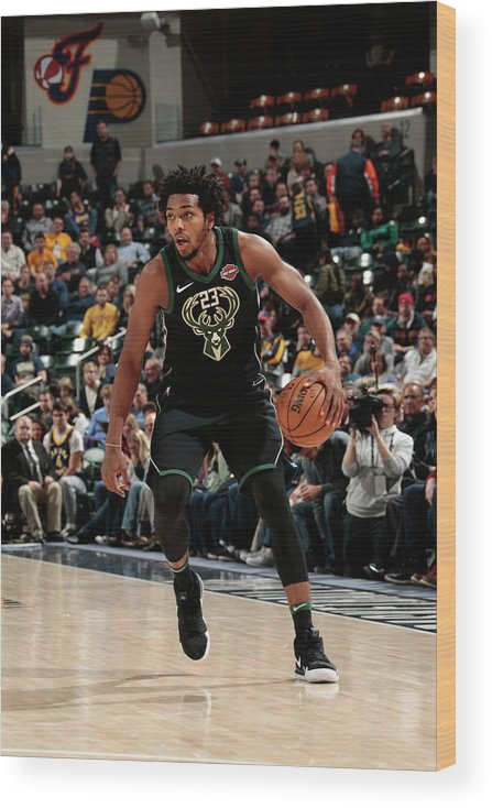 Nba Pro Basketball Wood Print featuring the photograph Sterling Brown by Ron Hoskins