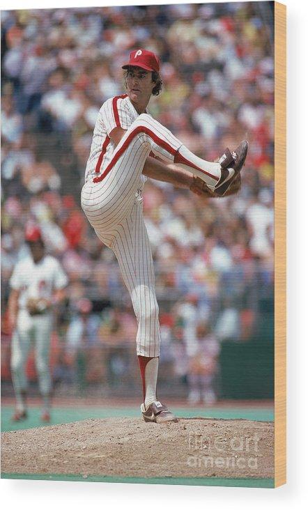 Baseball Pitcher Wood Print featuring the photograph Steve Carlton by Mlb Photos