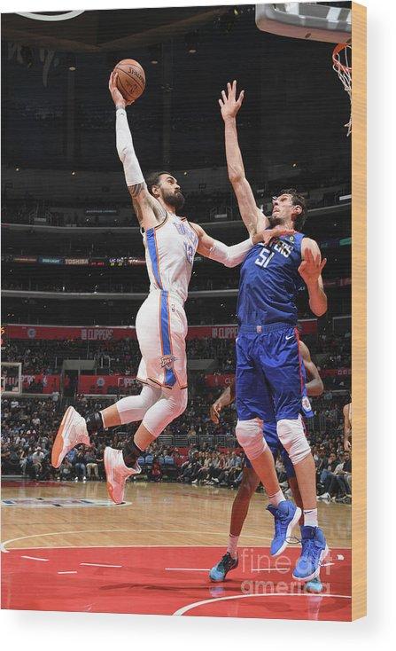 Nba Pro Basketball Wood Print featuring the photograph Steven Adams by Andrew D. Bernstein