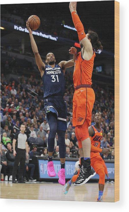 Nba Pro Basketball Wood Print featuring the photograph Steven Adams by Jordan Johnson