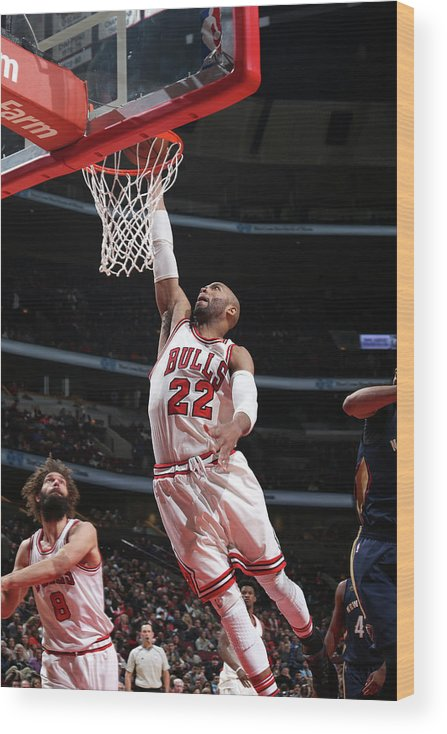 Nba Pro Basketball Wood Print featuring the photograph Taj Gibson by Gary Dineen