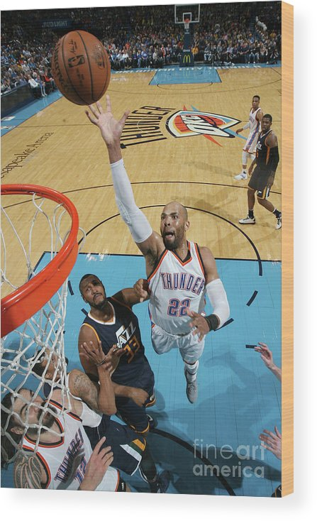 Nba Pro Basketball Wood Print featuring the photograph Taj Gibson by Layne Murdoch
