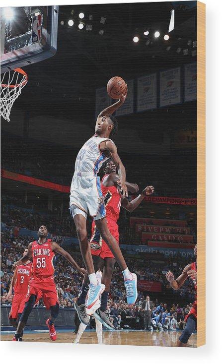 Nba Pro Basketball Wood Print featuring the photograph Terrance Ferguson by Joe Murphy
