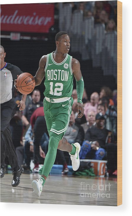 Nba Pro Basketball Wood Print featuring the photograph Terry Rozier by David Liam Kyle