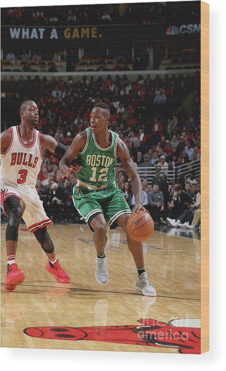 Nba Pro Basketball Wood Print featuring the photograph Terry Rozier by Gary Dineen