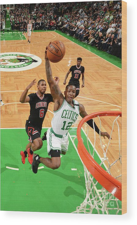 Playoffs Wood Print featuring the photograph Terry Rozier by Jesse D. Garrabrant