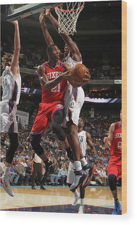 Nba Pro Basketball Wood Print featuring the photograph Thaddeus Young by Brock Williams-smith