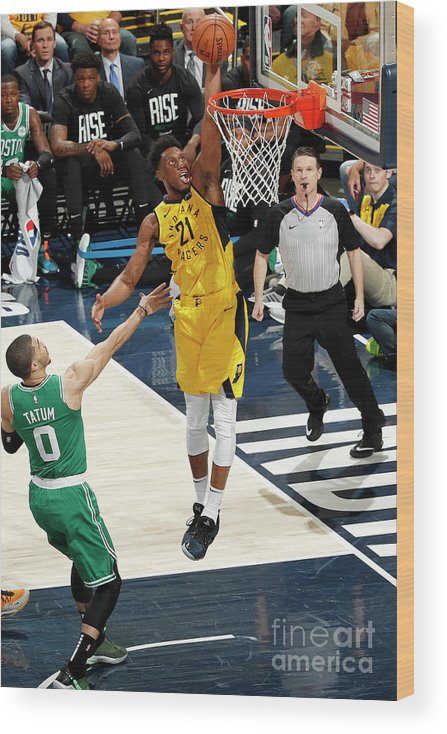 Playoffs Wood Print featuring the photograph Thaddeus Young by Jeff Haynes