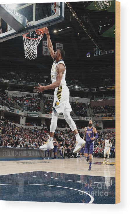 Nba Pro Basketball Wood Print featuring the photograph Thaddeus Young by Ron Hoskins
