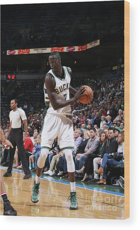 Nba Pro Basketball Wood Print featuring the photograph Thon Maker by Gary Dineen